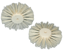 Circular brush in PVC, covered in nylon Chungking bristle mixture