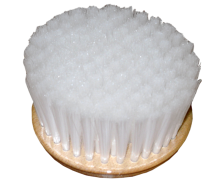 Wooden brush, covered by polypropylene