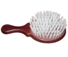 Wooden brush covered by polypropylene
