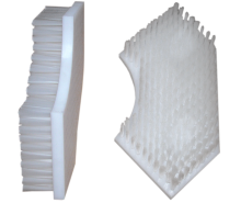 Brush in polyethylene, covered by white nylon