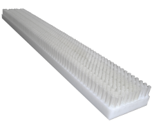 Brush in polyethylene, covered by polypropylene