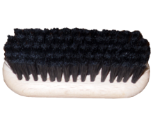 Brush for cleaning shoes, covered by bristle