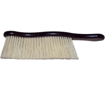 Wooden brush for cleaning clothes, covered by polypropylene