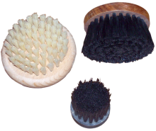 Wooden circular brushes, covered by bristle